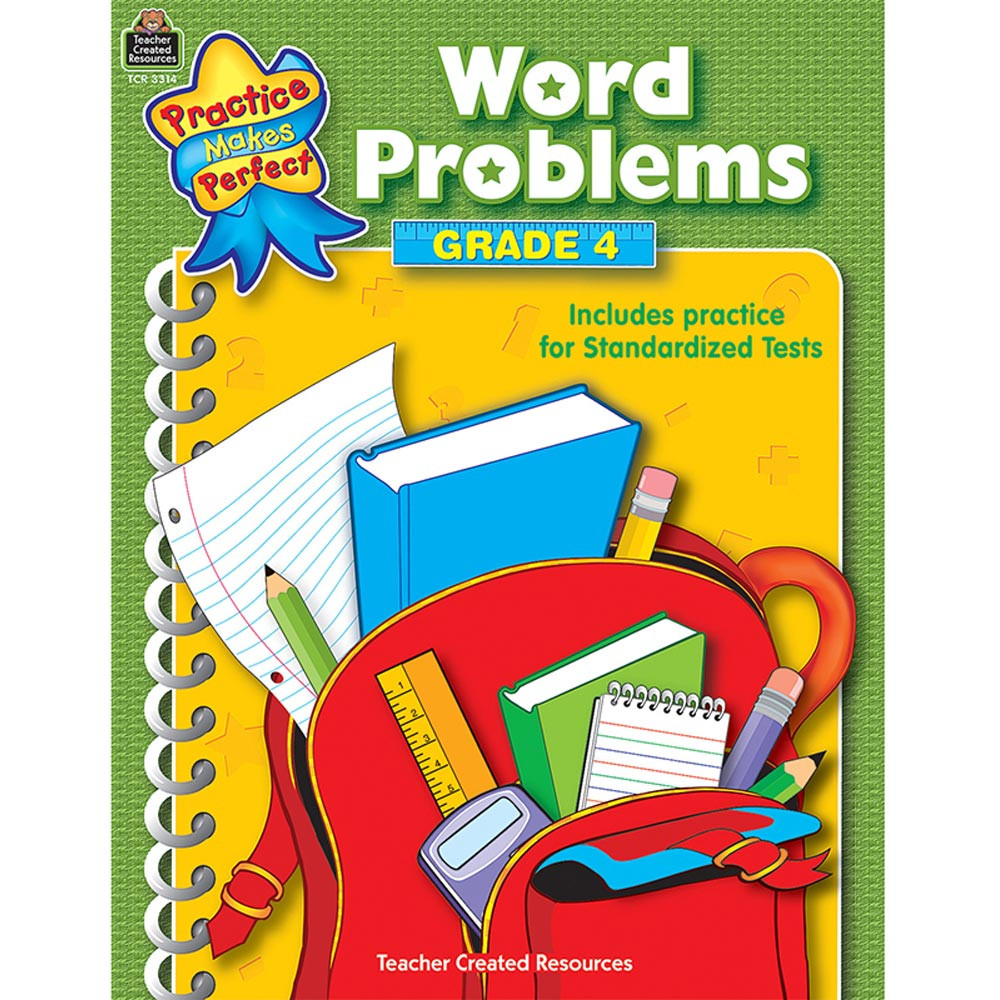 TCR3314 - Word Problems Gr 4 Practice Makes Perfect in Word Skills