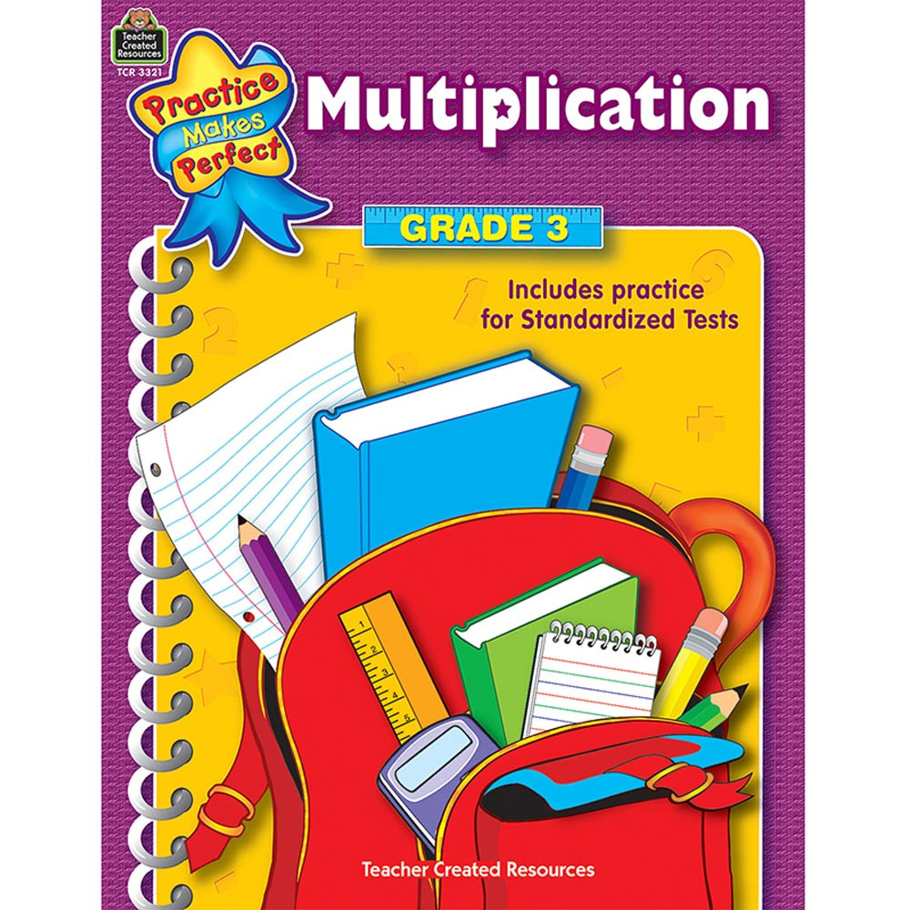 TCR3321 - Multiplication Gr 3 Practice Makes Perfect in Multiplication & Division