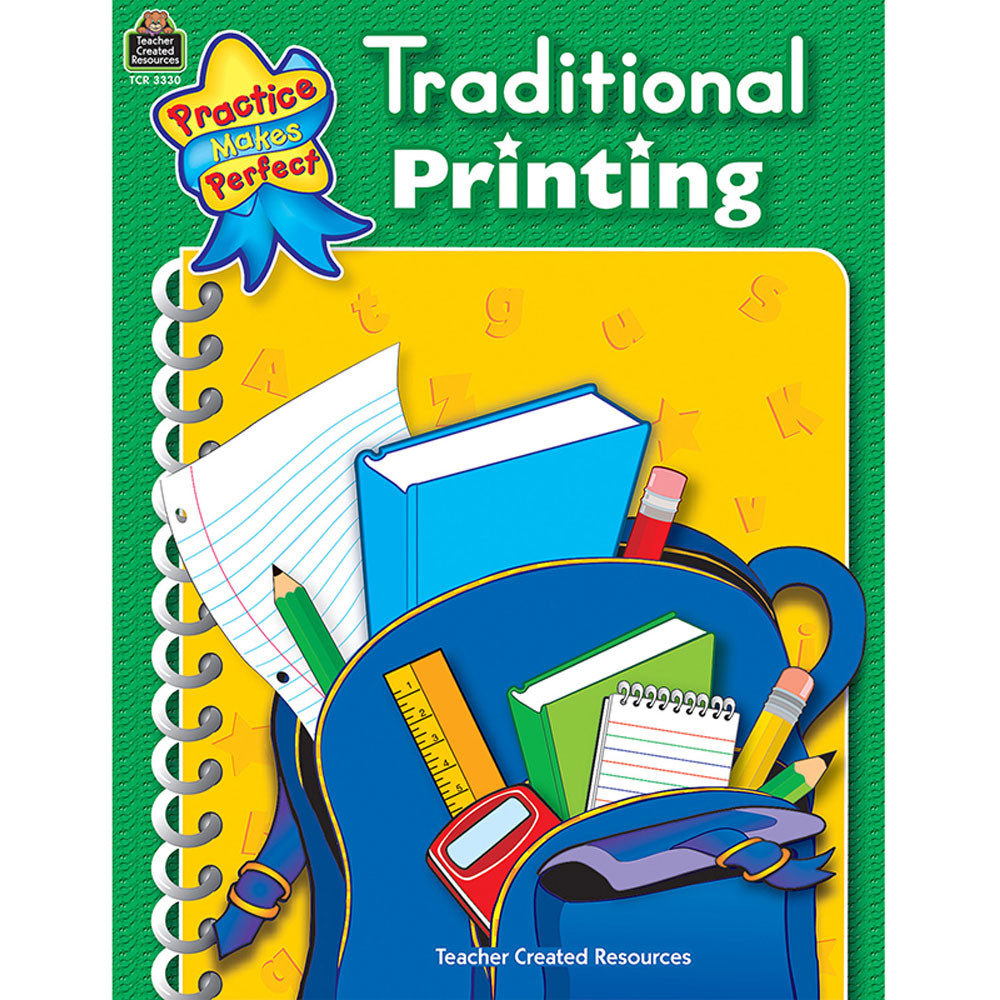 TCR3330 - Traditional Printing Practice Makes Perfect in Handwriting Skills