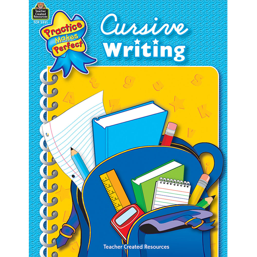 TCR3331 - Cursive Writing Practice Makes Perfect in Handwriting Skills