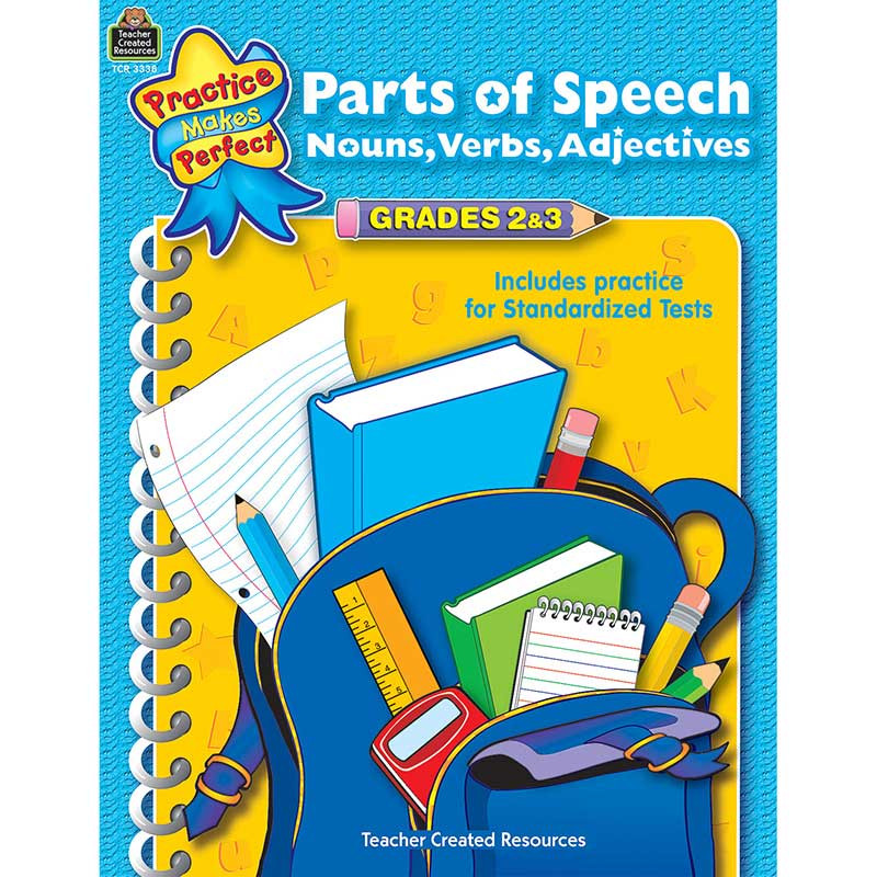 TCR3338 - Parts Of Speech Gr 2-3 Practice Makes Perfect in Language Skills