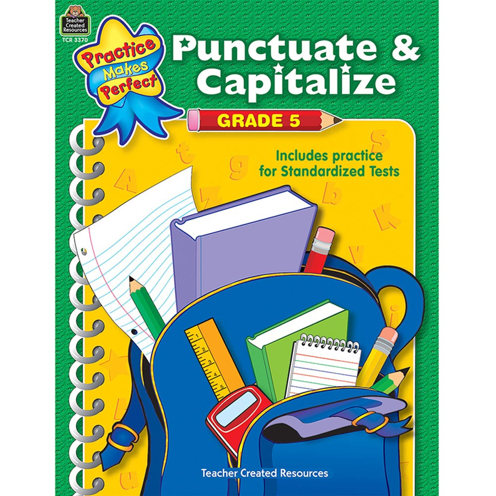 TCR3370 - Punctuate And Capitalize Gr 5 Practice Makes Perfect in Vocabulary Skills