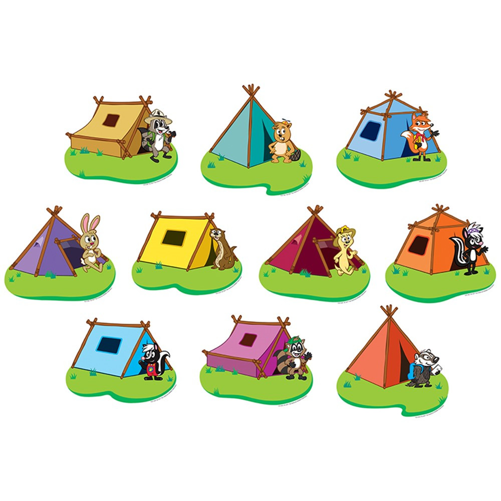 TCR3427 - Ranger Rick Tents Accents in Accents