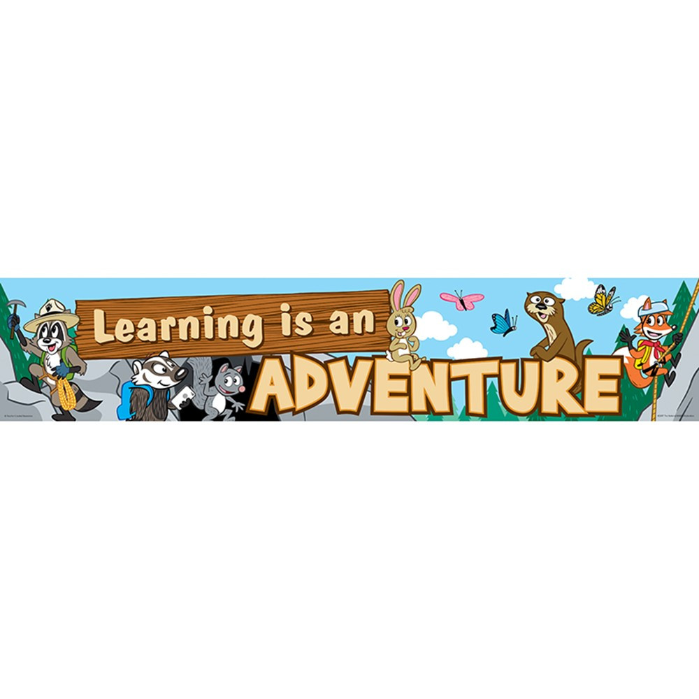 Ranger Rick Learning Is An Adventure Banner Tcr3430 Teacher Created Resources Banners