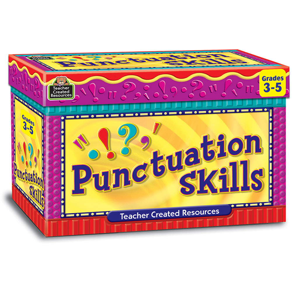 TCR3432 - Punctuation Skill Cards Gr 3-5 in Grammar Skills