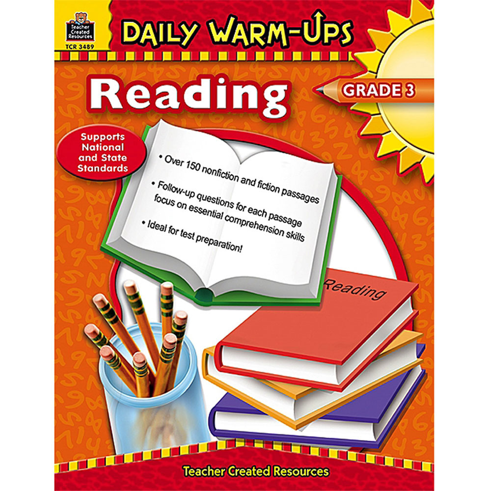 TCR3489 - Daily Warm-Ups Reading Gr 3 in Cross-curriculum Resources