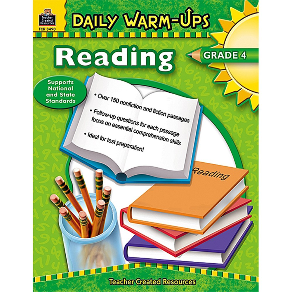 TCR3490 - Daily Warm-Ups Reading Gr 4 in Cross-curriculum Resources