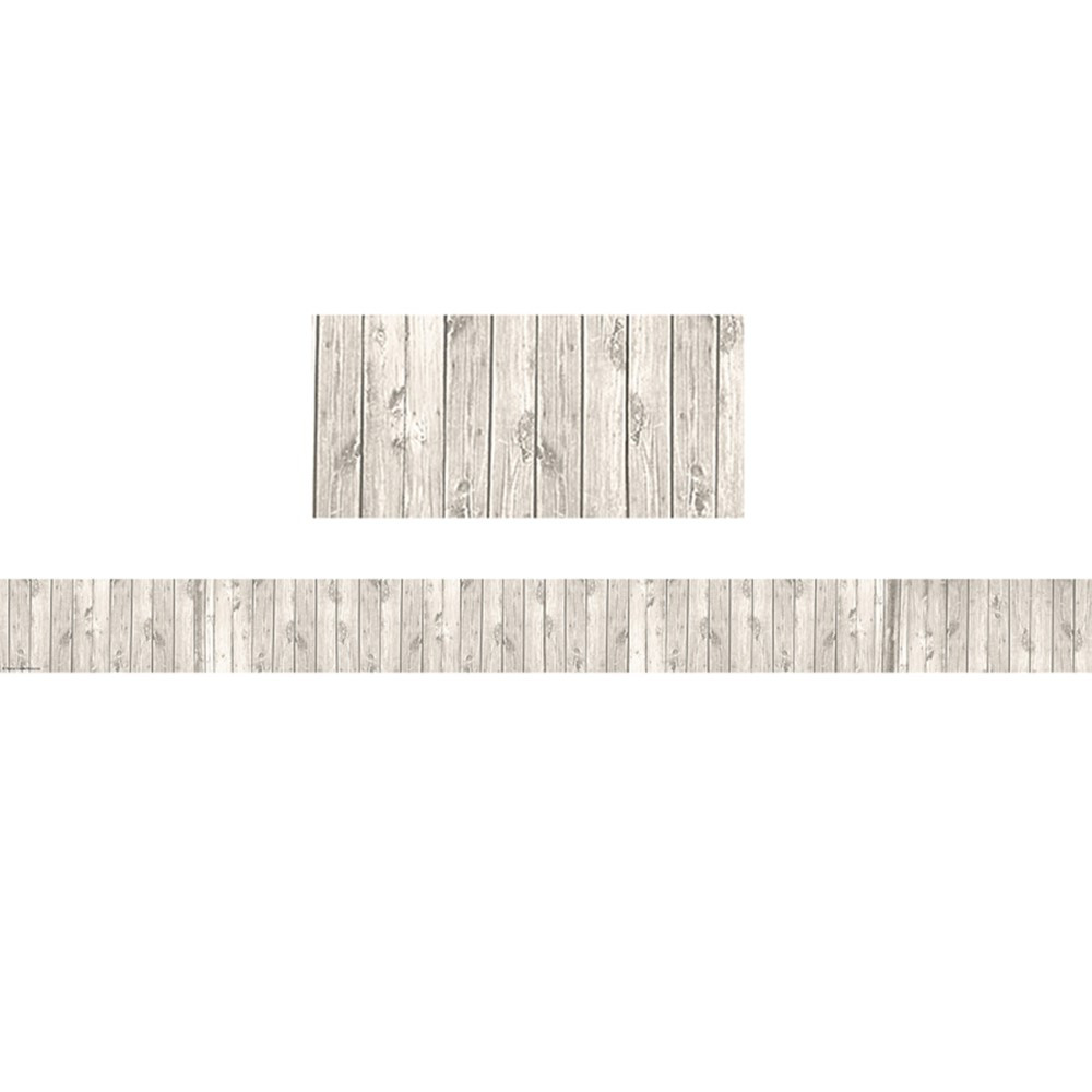 TCR3563 - Shabby Chic White Wood Border Trim Straight in Border/trimmer