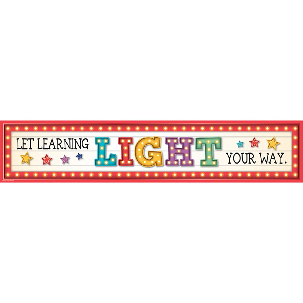Marquee Let Learning Light Your Way Banner Tcr3604 Teacher Created Resources Banners