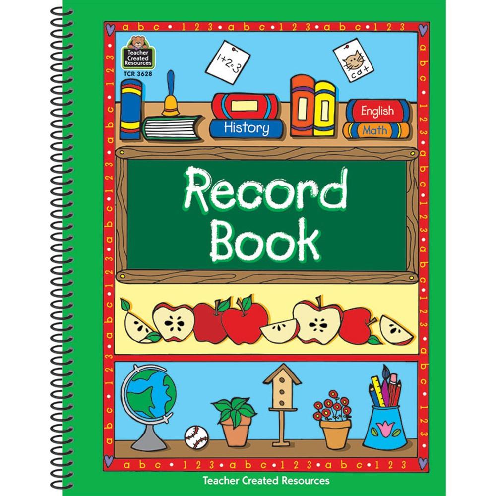 TCR3628 - Record Book Green Border in Plan & Record Books