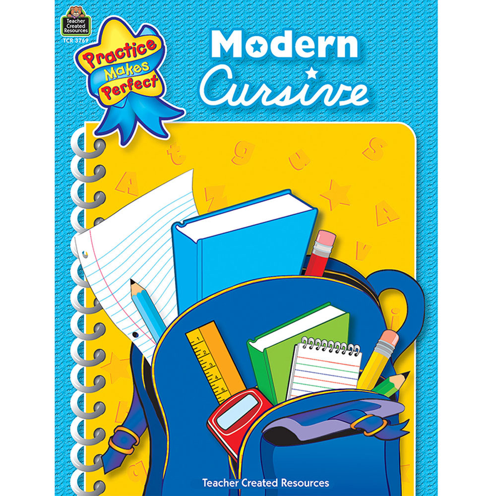 TCR3769 - Modern Cursive Gr 1-2 Practice Makes Perfect in Writing Skills