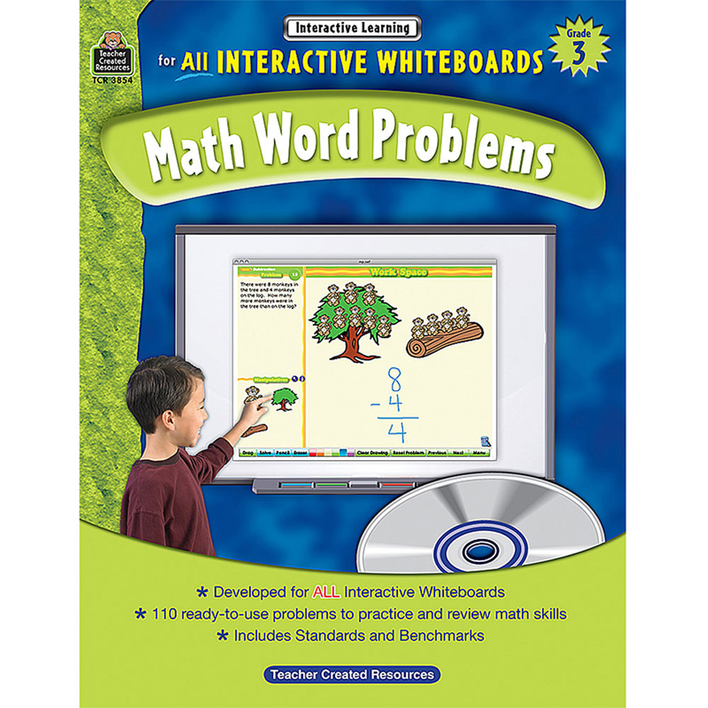 TCR3854 - Interactive Learning Gr 3 Math Word Problems in Math