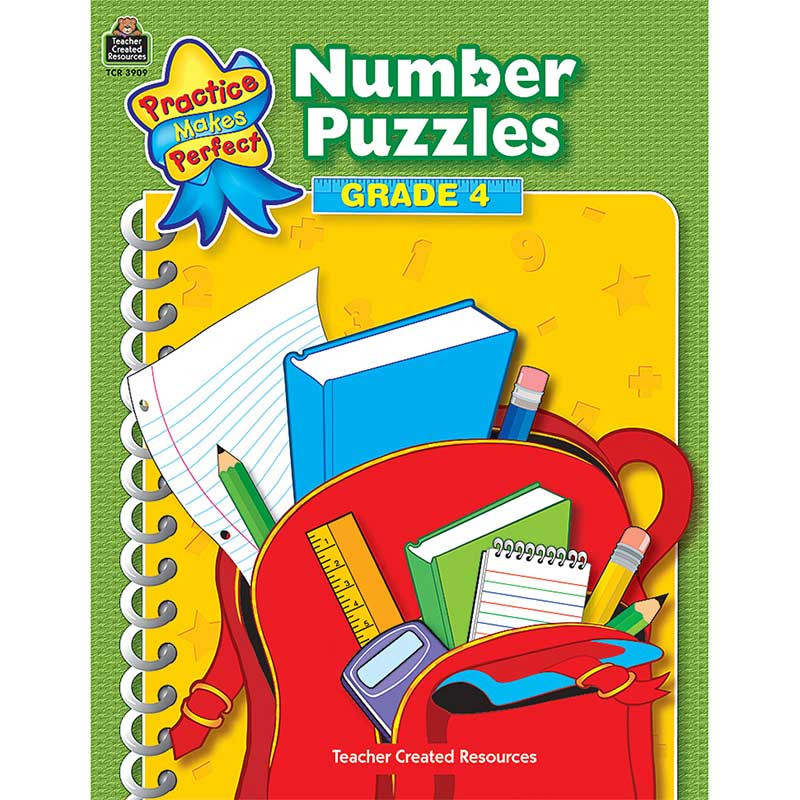TCR3909 - Number Puzzles Gr 4 in Math