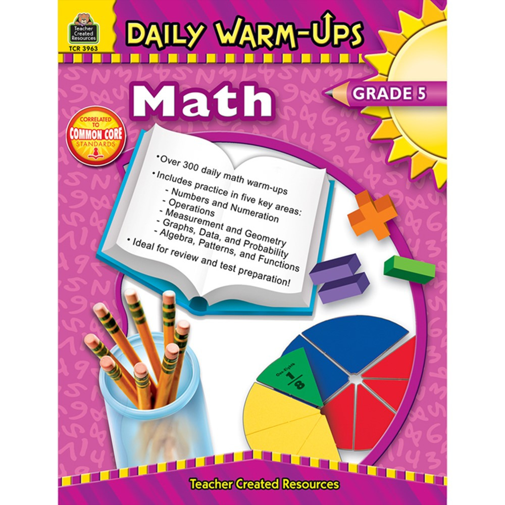 TCR3963 - Daily Warm-Ups Math Gr 5 in Activity Books