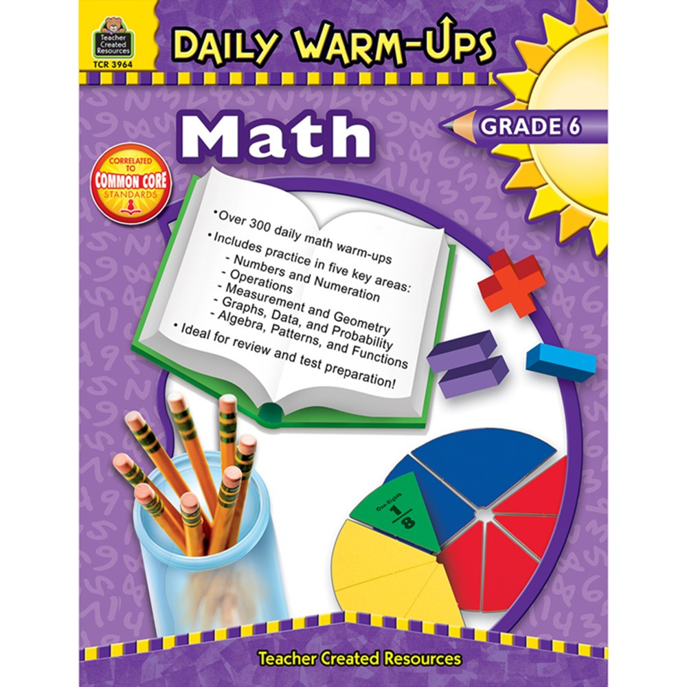 TCR3964 - Daily Warm-Ups Math Gr 6 in Activity Books