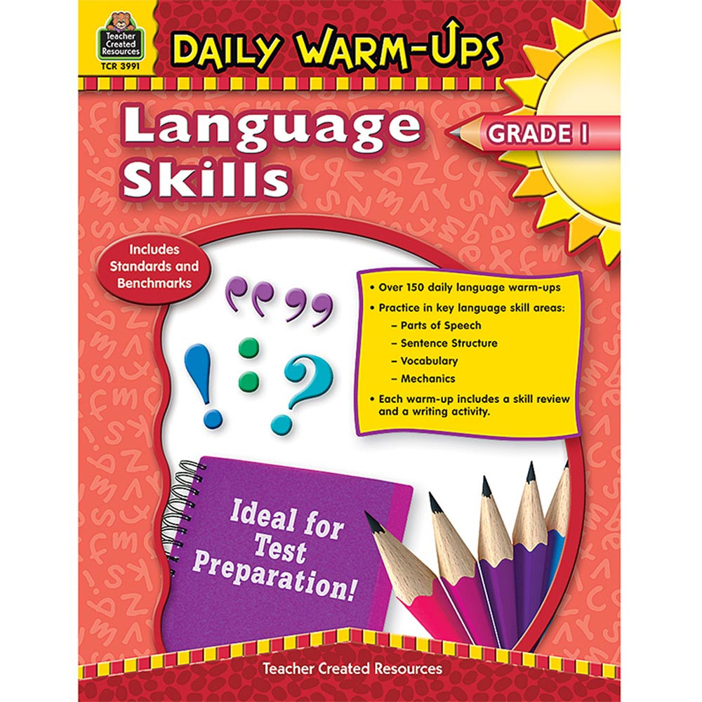 TCR3991 - Daily Warm Ups Language Skills Gr 1 in Activities
