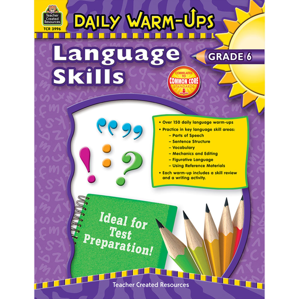 TCR3996 - Daily Warm Ups Language Skills Gr 6 in Activities