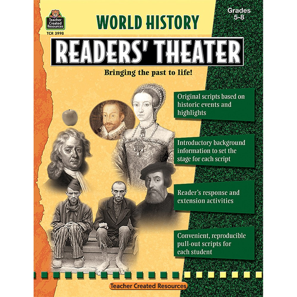 TCR3998 - World History Readers Theater Gr5-8 in History