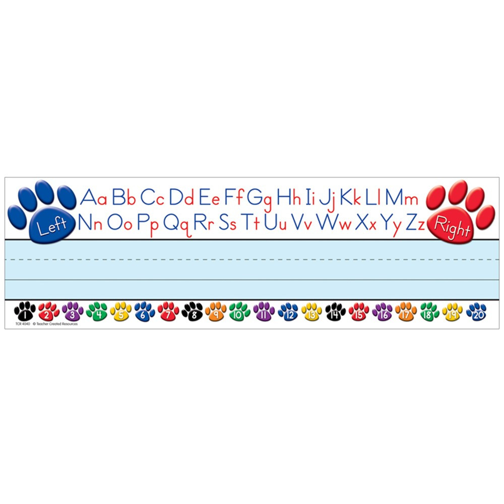 TCR4040 - Paw Prints Left/Right Alphabet Name Plates in Name Plates