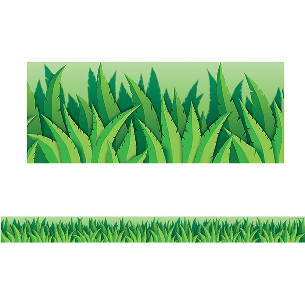 TCR4082 - Island Leaves Straight Border Trim in Border/trimmer