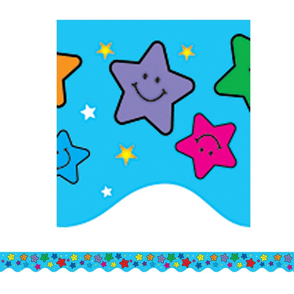 TCR4128 - Happy Stars Border Trim in Border/trimmer