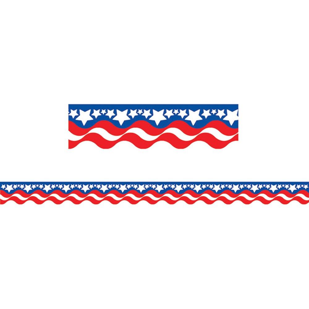 TCR4158 - Patriotic Border Trim in Holiday/seasonal