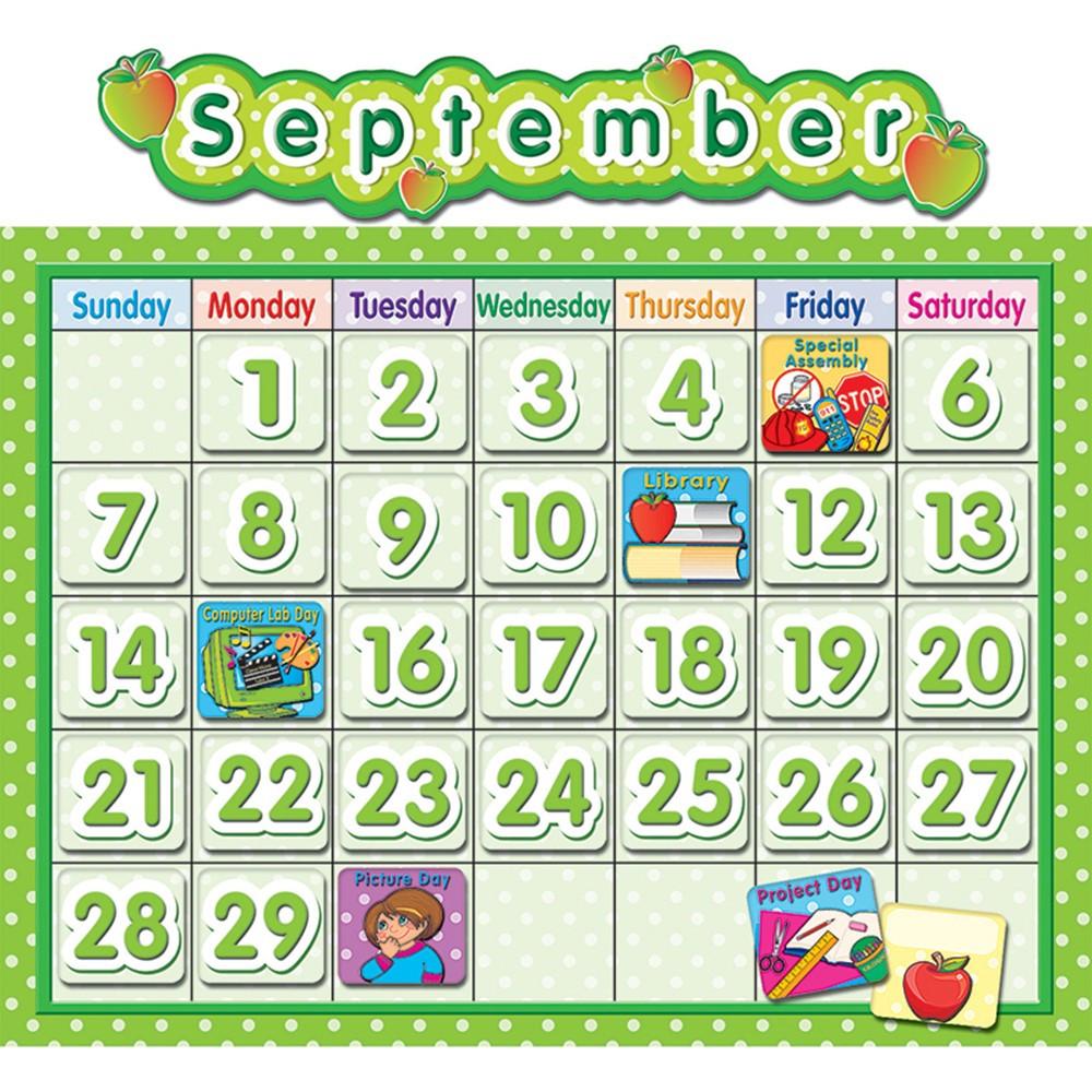 TCR4188 - Polka Dot School Calendar Bb Board in Calendars
