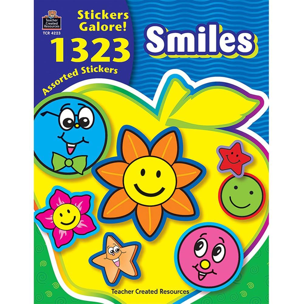 TCR4223 - Smiles Sticker Book 1323Pk in Stickers