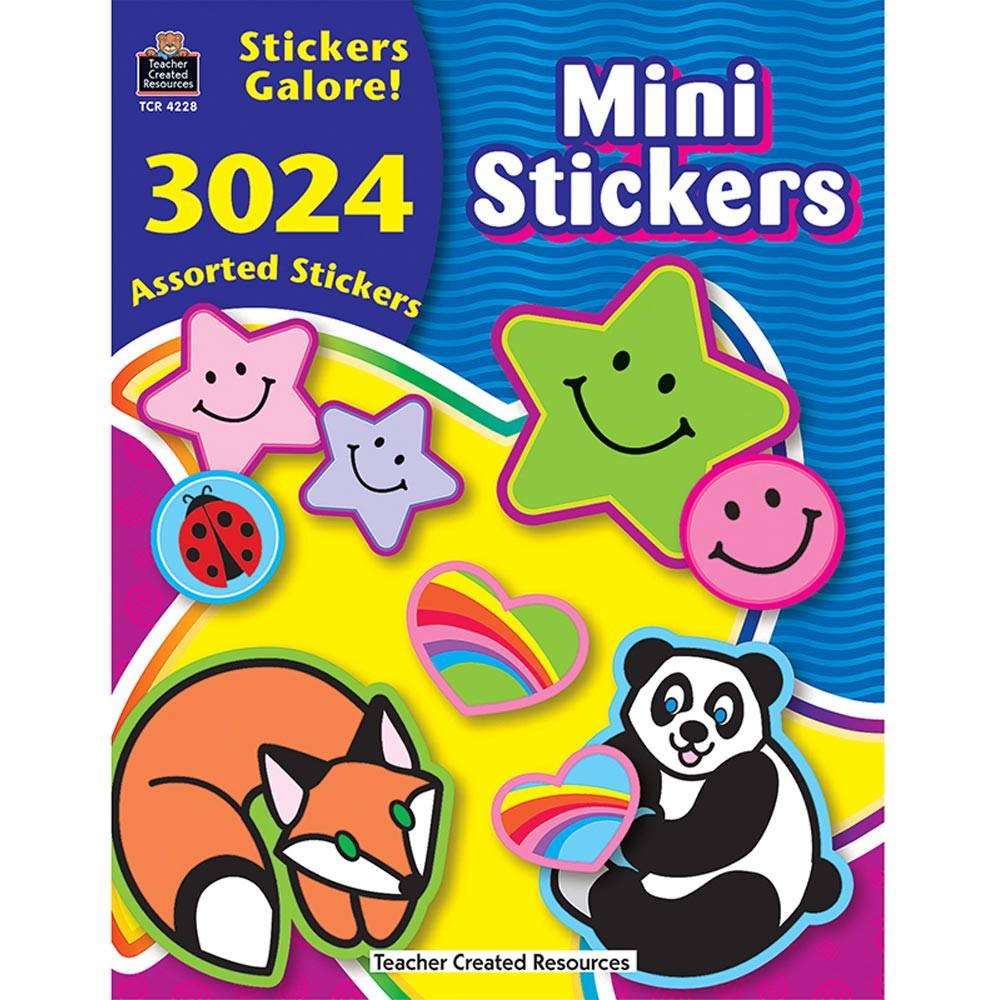 TCR4228 - Mini Stickers Sticker Book 3024Pk in Stickers