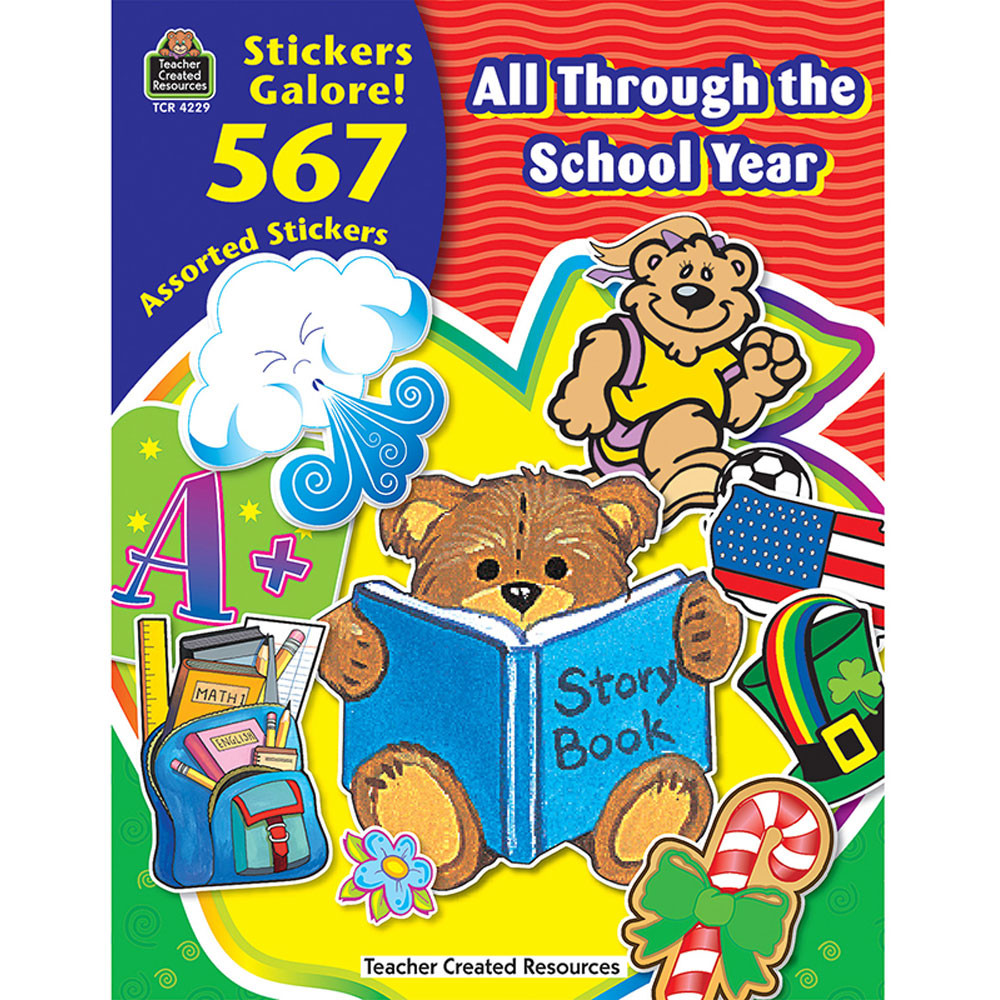 TCR4229 - All Through The School Year Sticker Book in Stickers