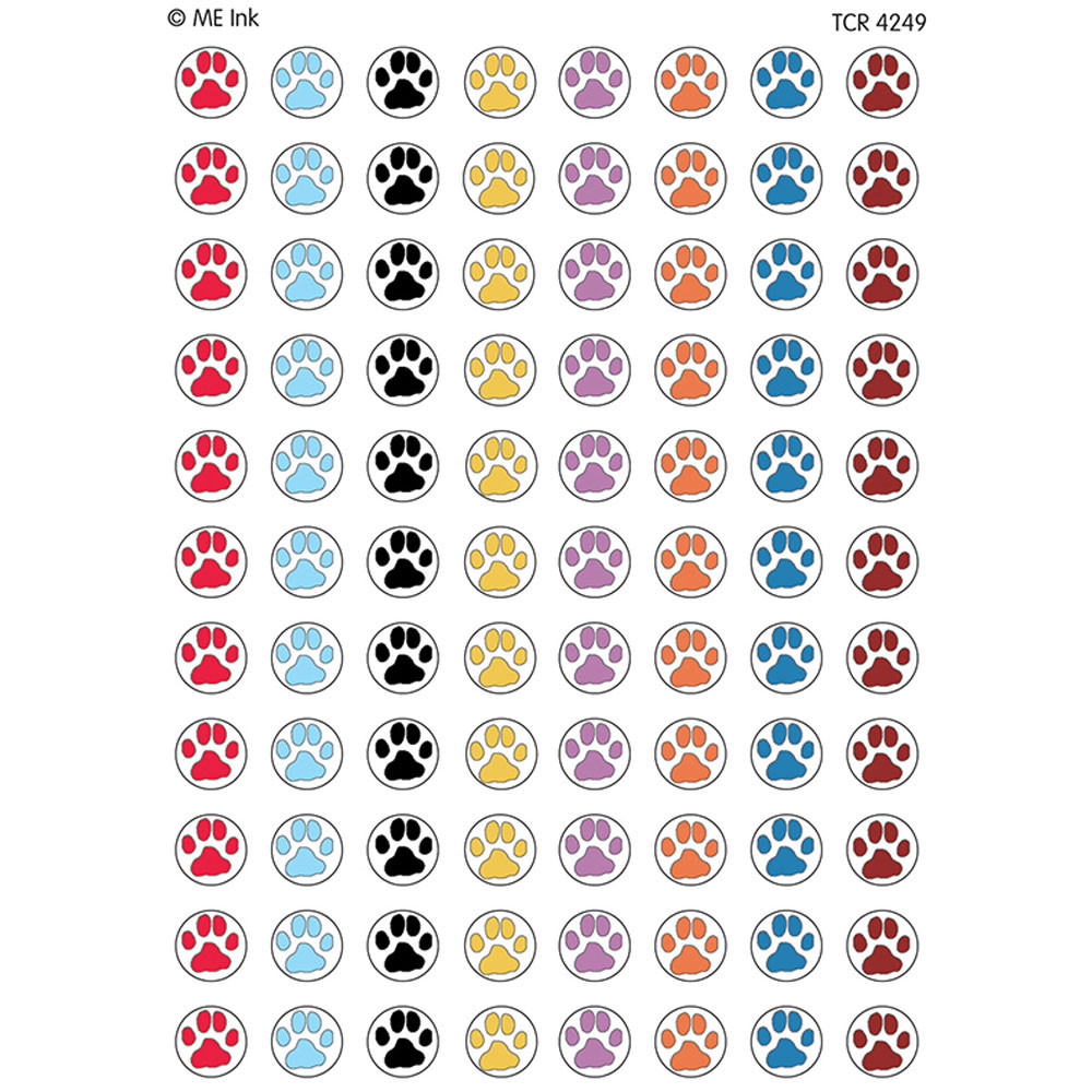 TCR4249 - Me Puppy Paw Prints Mini Stickers in Stickers