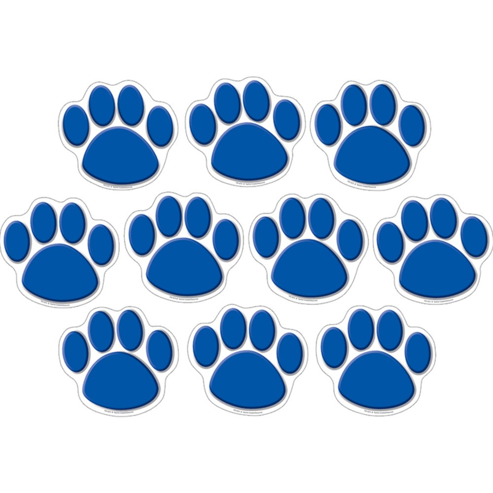 TCR4275 - Accents Blue Paw Prints in Accents
