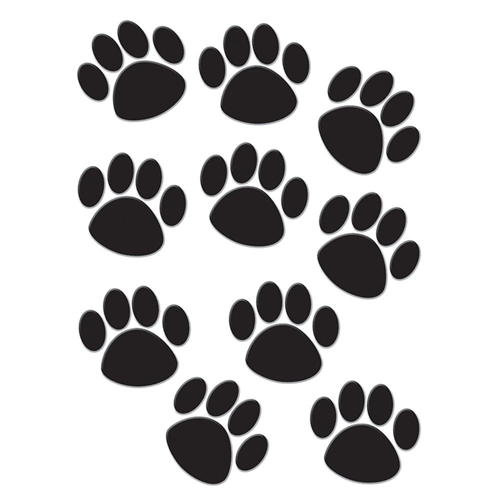 TCR4277 - Accents Black Paw Prints in Accents