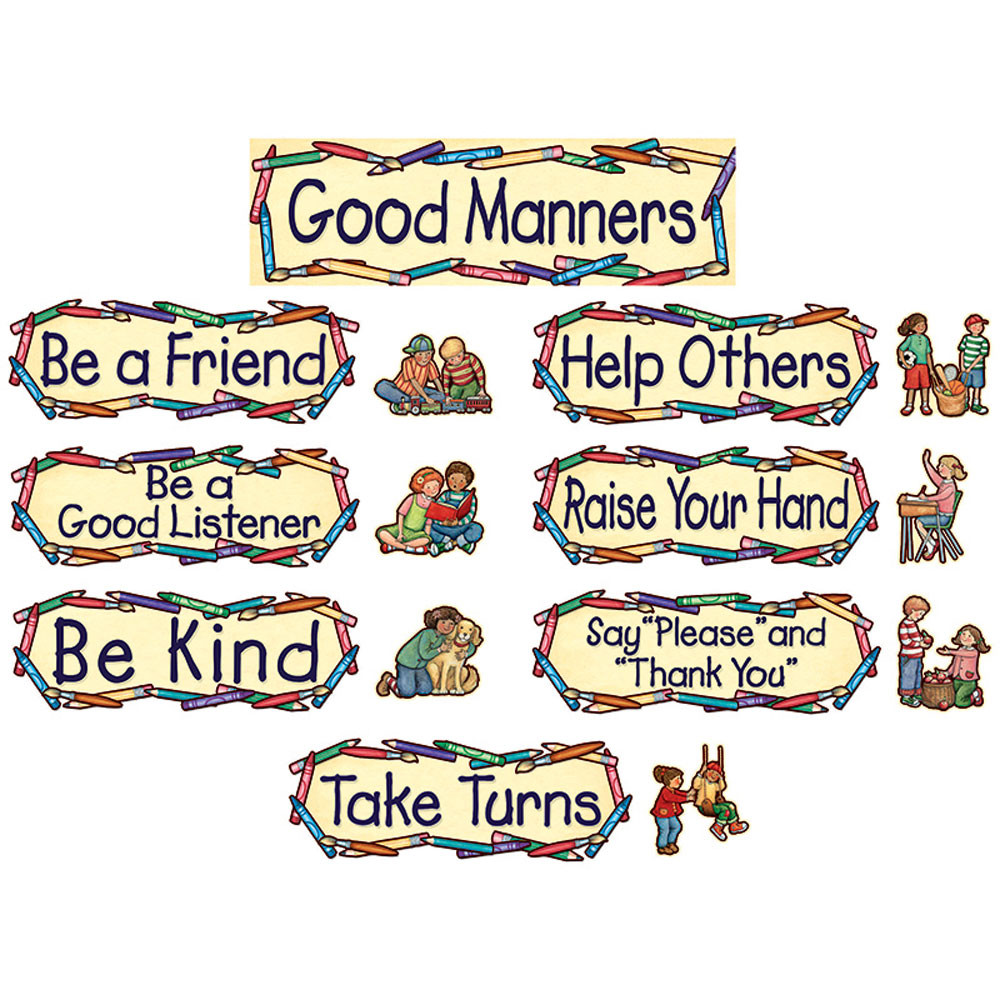 TCR4297 - Susan Winget Good Manners Mini Bulletin Board Set in Miscellaneous