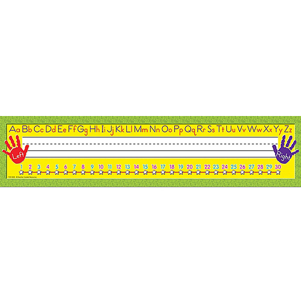 TCR4303 - Right/Left Alphabet Super Jumbo Name Plates in Name Plates