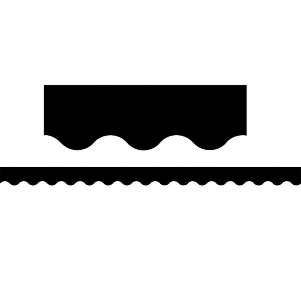 TCR4397 - Black Scalloped Border Trim in Border/trimmer