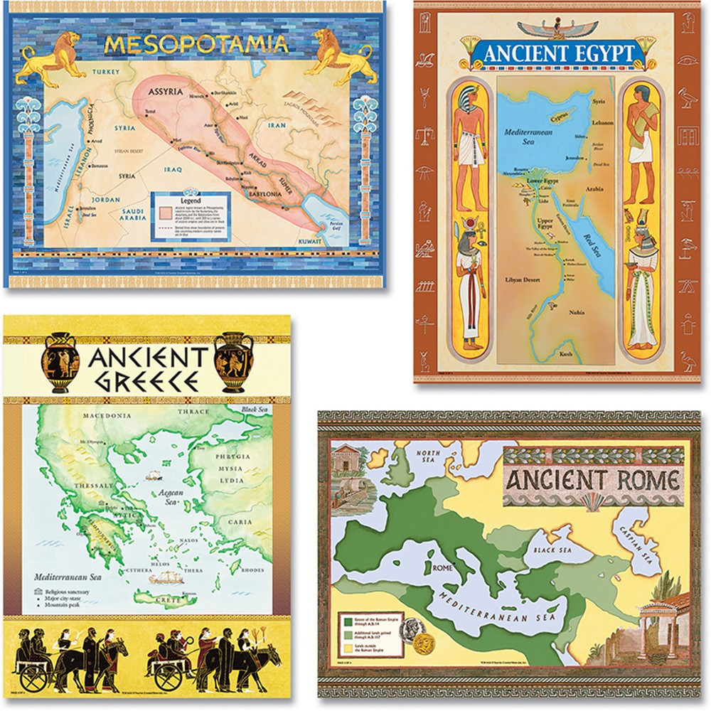 TCR4422 - Ancient Civilization Bulletin Board Set in Social Studies