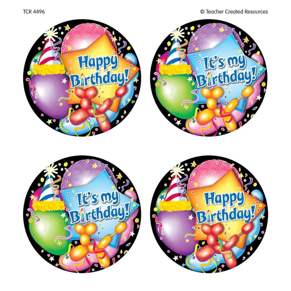 TCR4496 - Happy Birthday Wear Em Badges in Badges