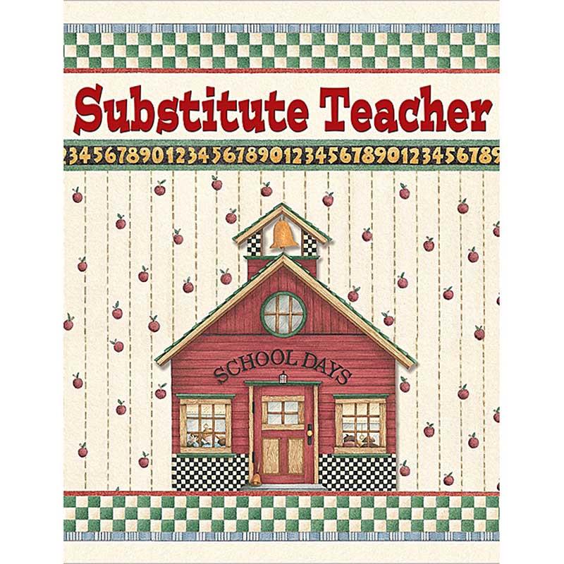 TCR4523 - Dm Substitute Teacher Pocket Folder in Substitute Teachers