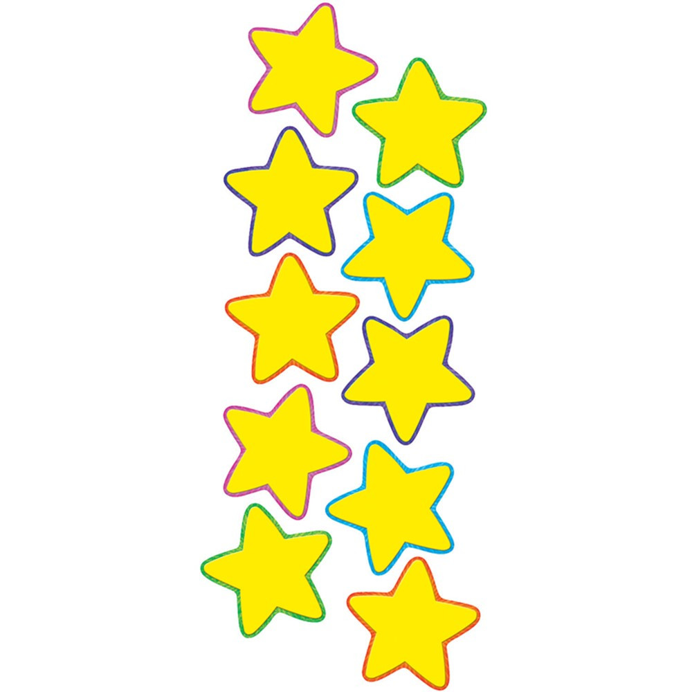 TCR4591 - Yellow Stars Accents in Accents