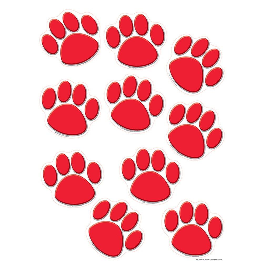 TCR4647 - Red Paw Prints Accents in Accents