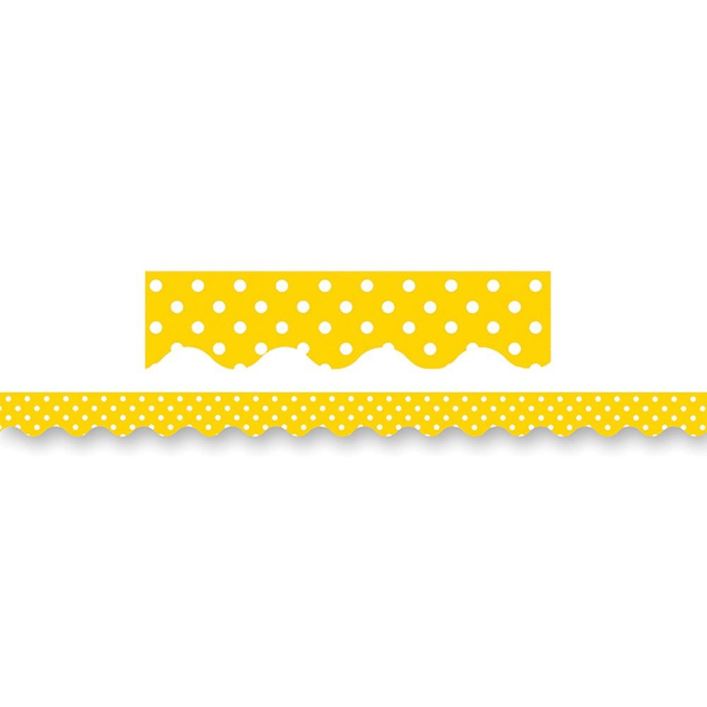 TCR4668 - Yellow Mini Polka Dots Border Trim in Border/trimmer