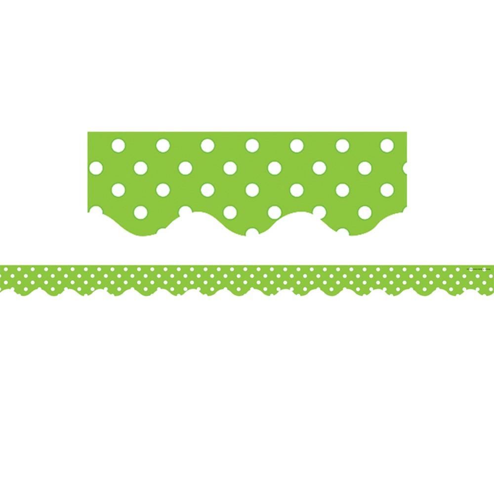 TCR4669 - Lime Mini Polka Dots Border Trim in Border/trimmer