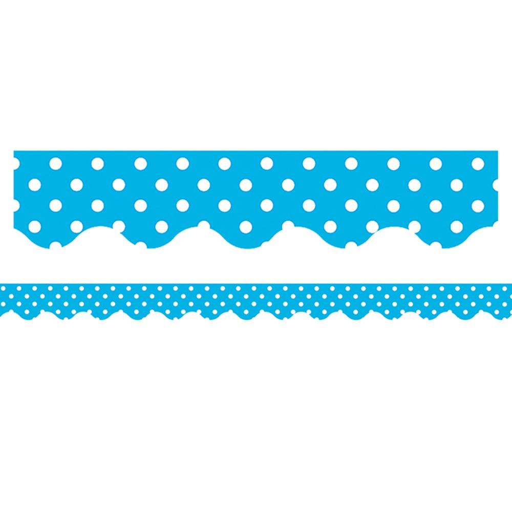 TCR4670 - Aqua Mini Polka Dots Border Trim in Border/trimmer