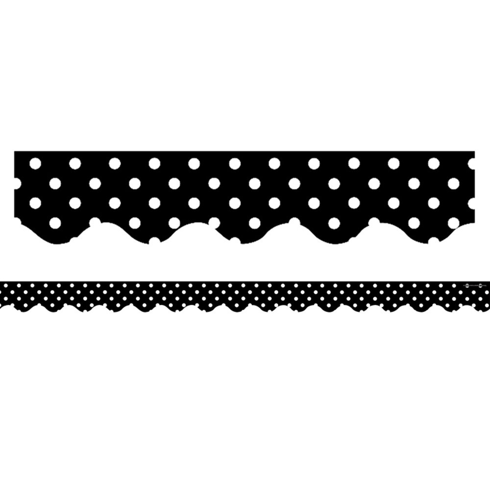 TCR4671 - Black Mini Polka Dots Border Trim in Border/trimmer