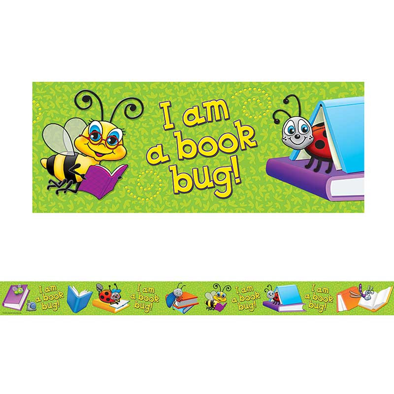TCR4763 - Im A Book Bug Straight Border Trim in Border/trimmer