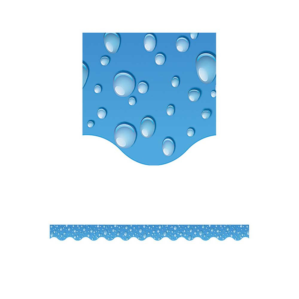 TCR4768 - Wy Waterdrops Scalloped Border Trim in Border/trimmer