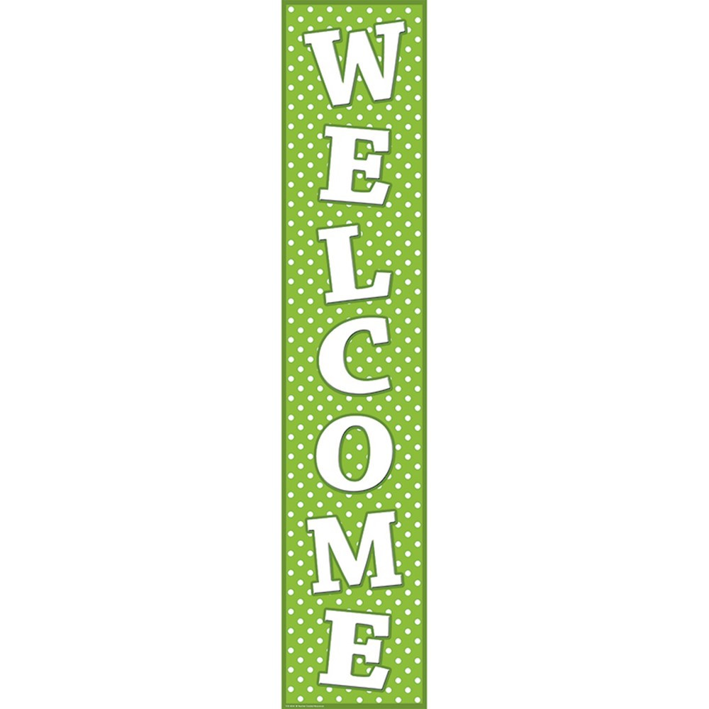 TCR4854 - Lime Polka Dots Welcome Banner in Banners