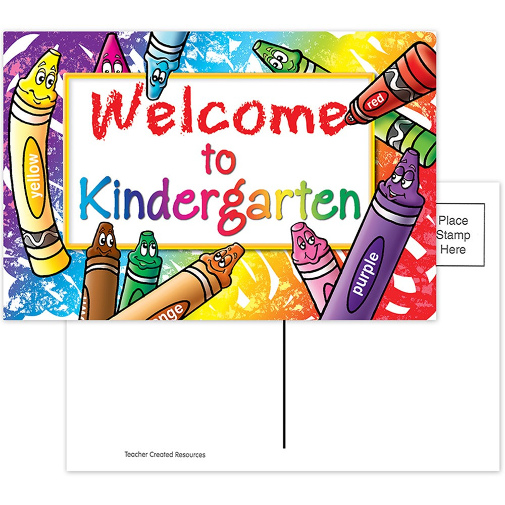 TCR4860 - Welcome To Kindergarten 30/Pk Postcards in Postcards & Pads