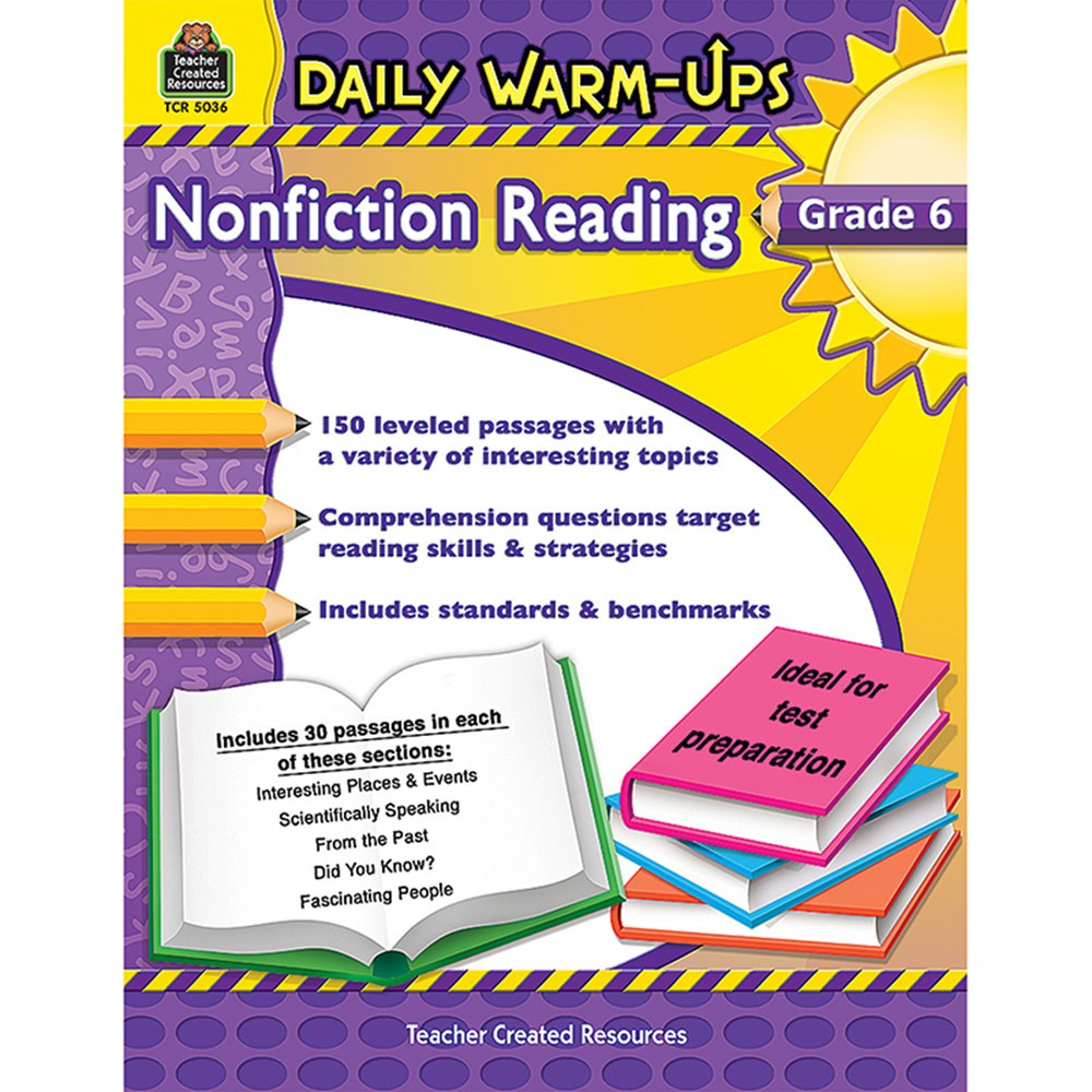 TCR5036 - Daily Warm Ups Gr 6 Nonfiction Reading in Reading Skills